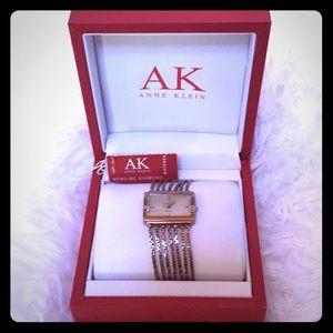 Anne Klein with Genuine Diamond Watch